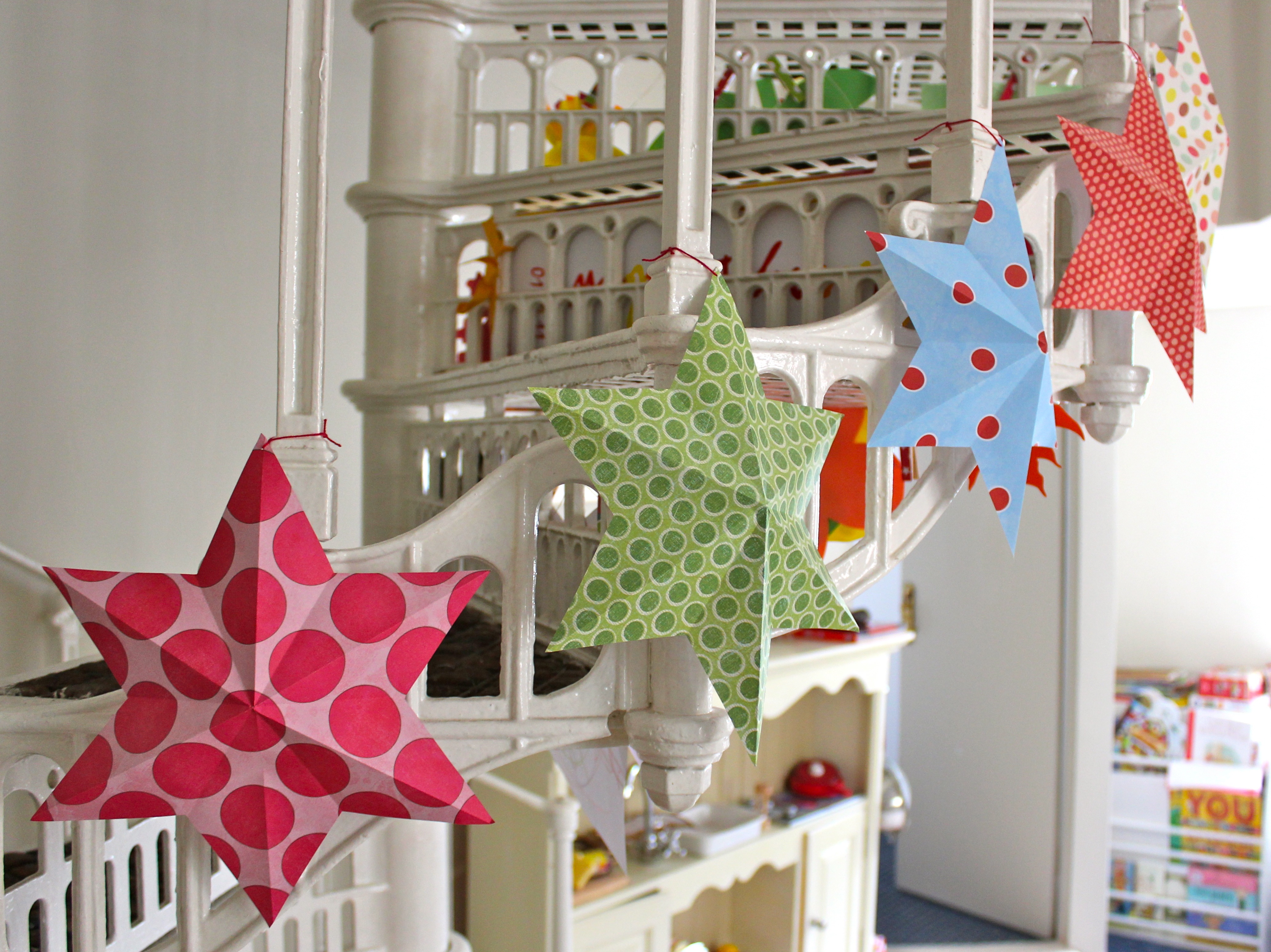 2012 july for 3d paper star decoration