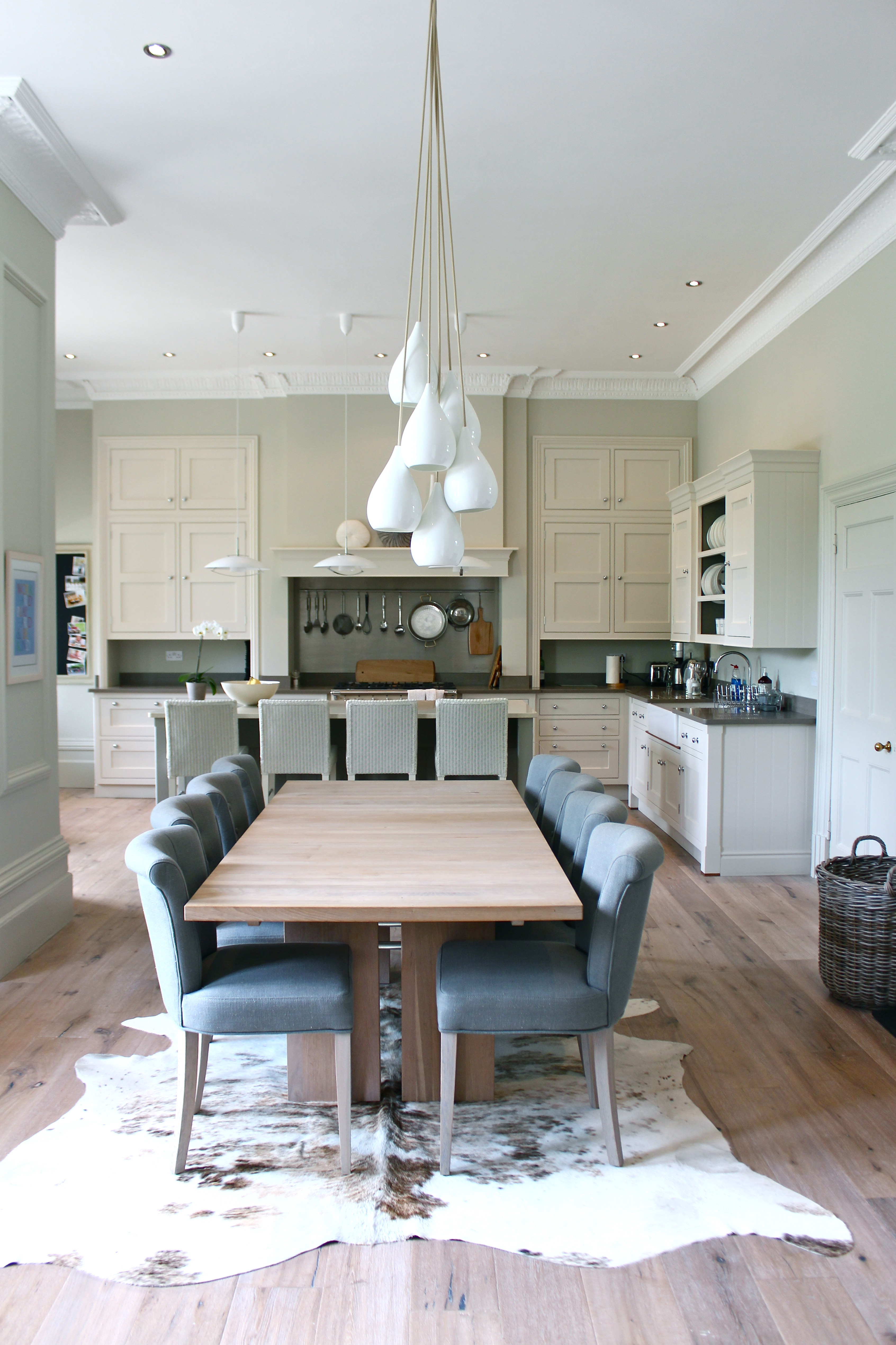 Kitchen Table Painted In Skimming Stone