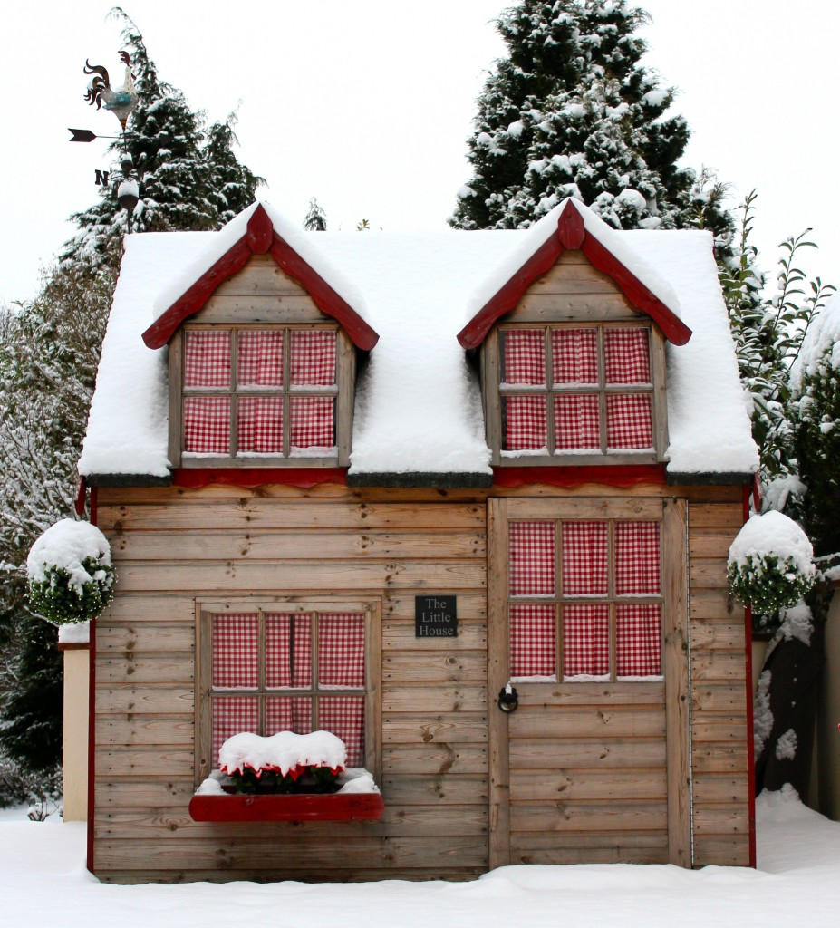 playhouse in the snow