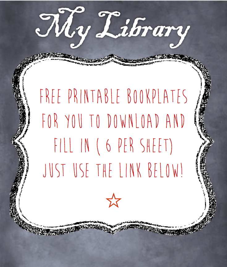 The memory library for Free printable bookplates templates