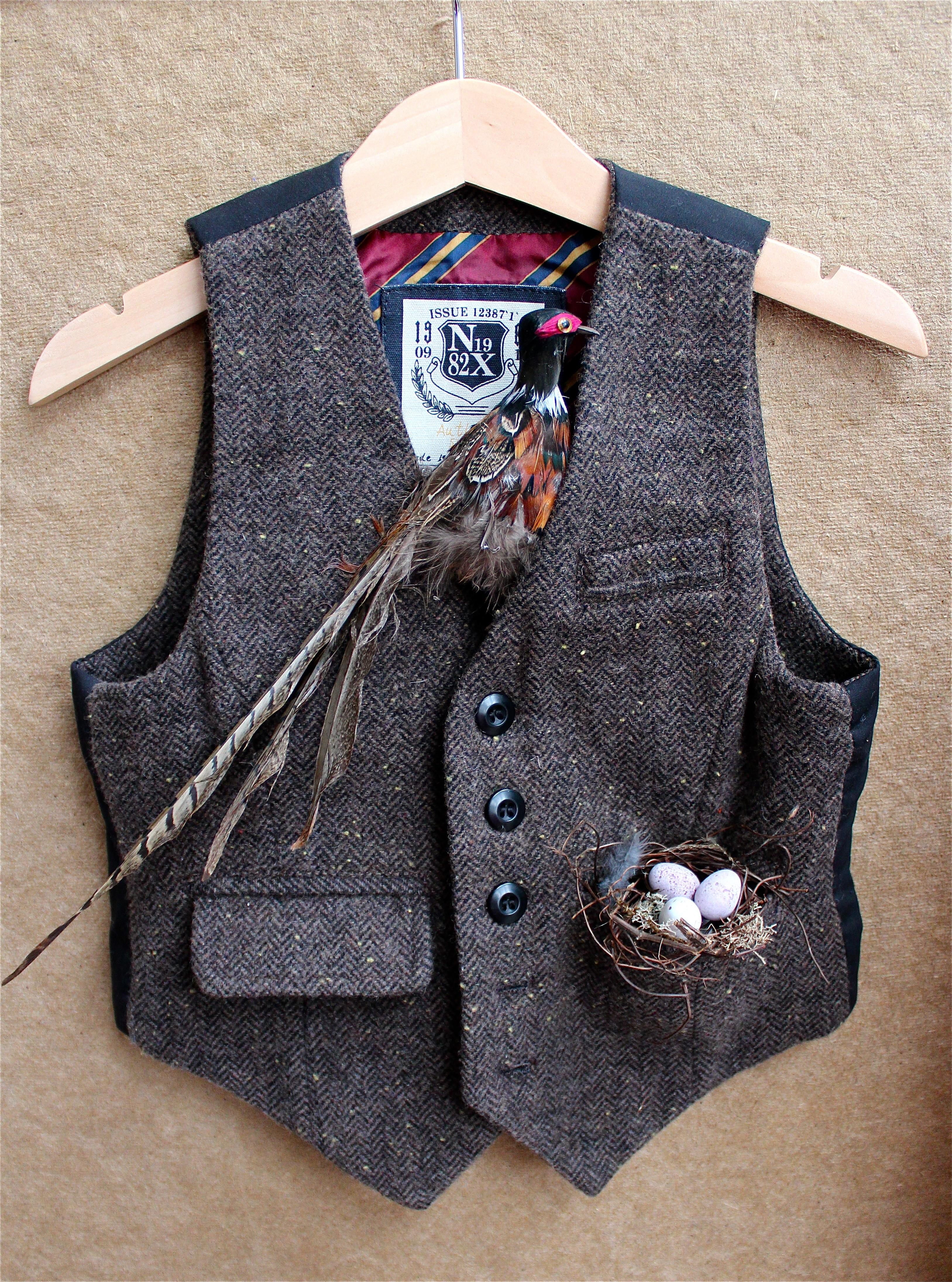 bird nest in waistcoat pocket