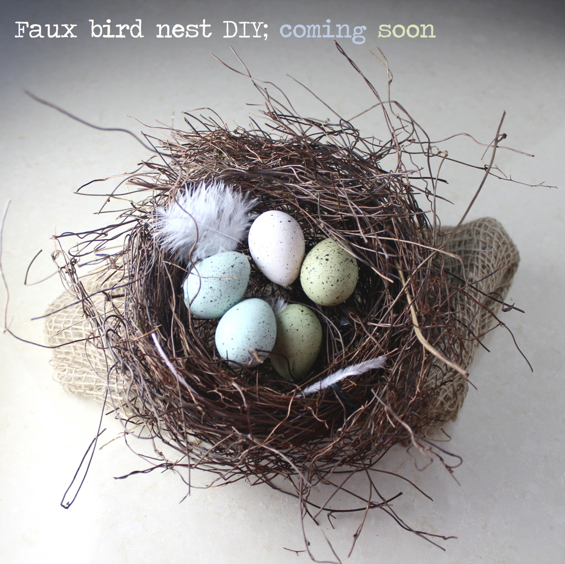 faux bird nest DIY