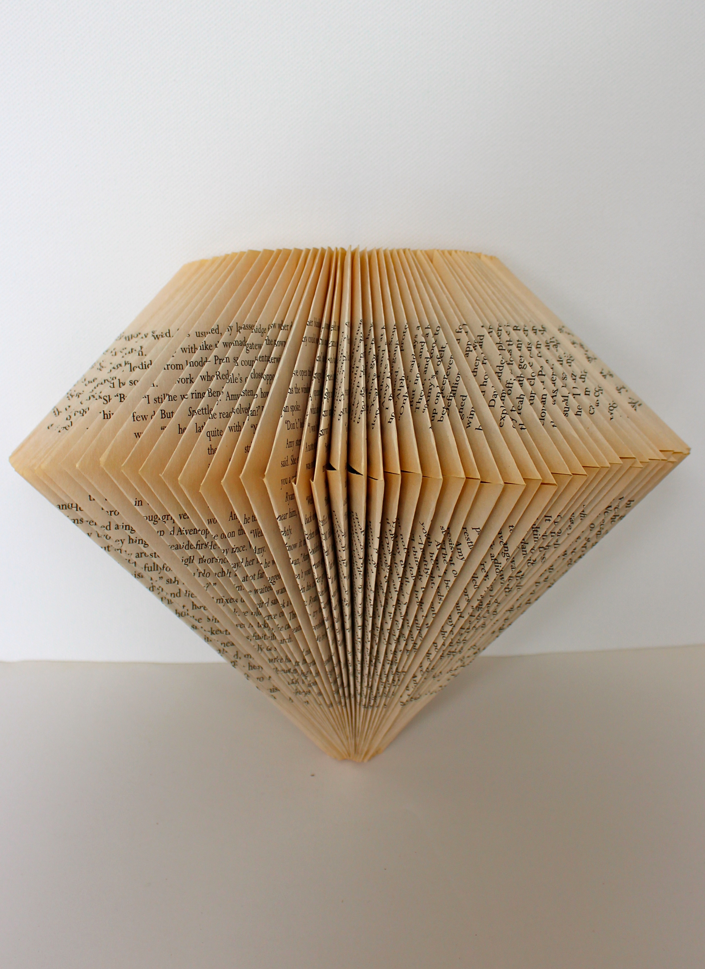 folded book pendant