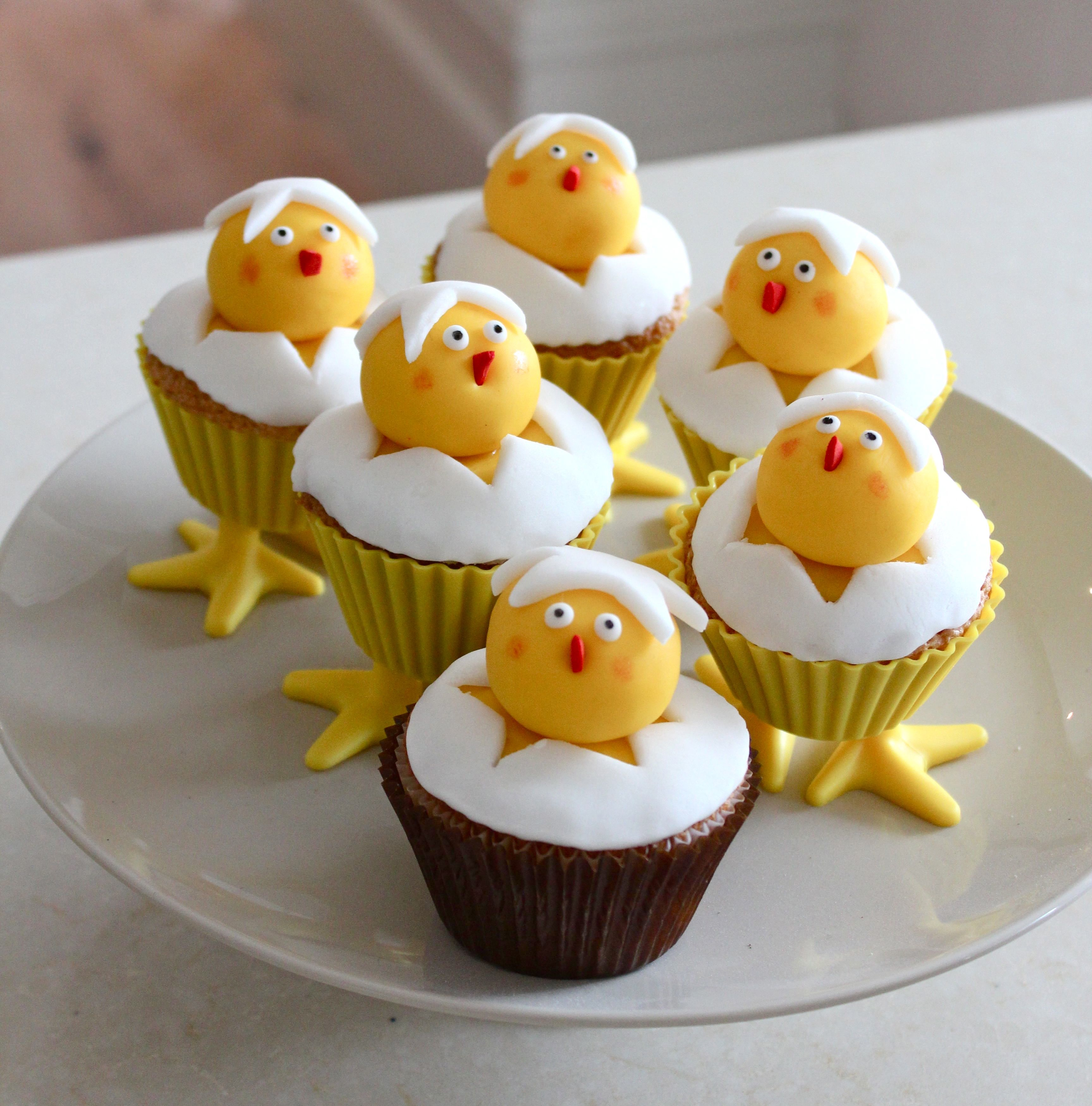 Hatching Chick Cupcakes