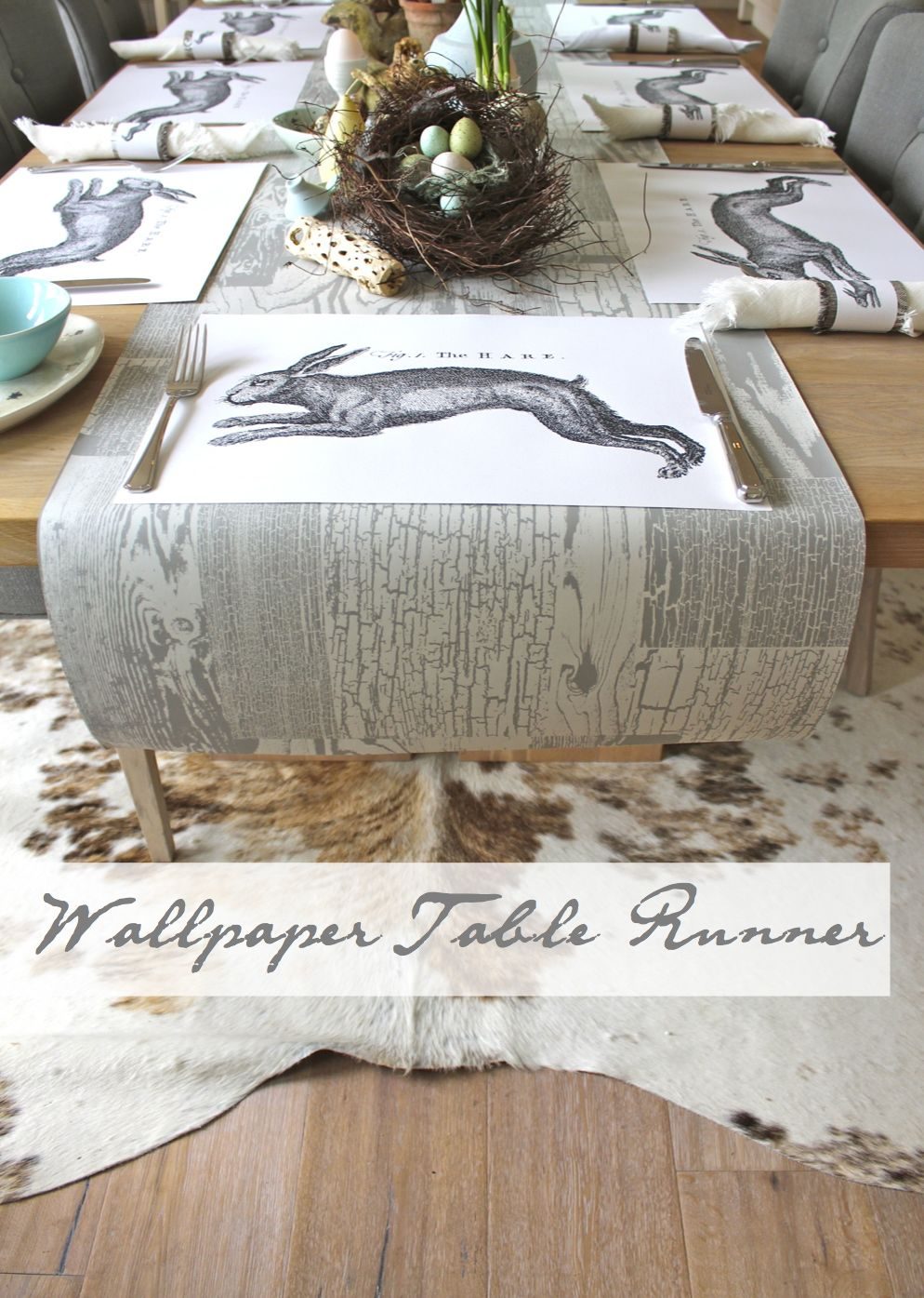 wallpaper table runner