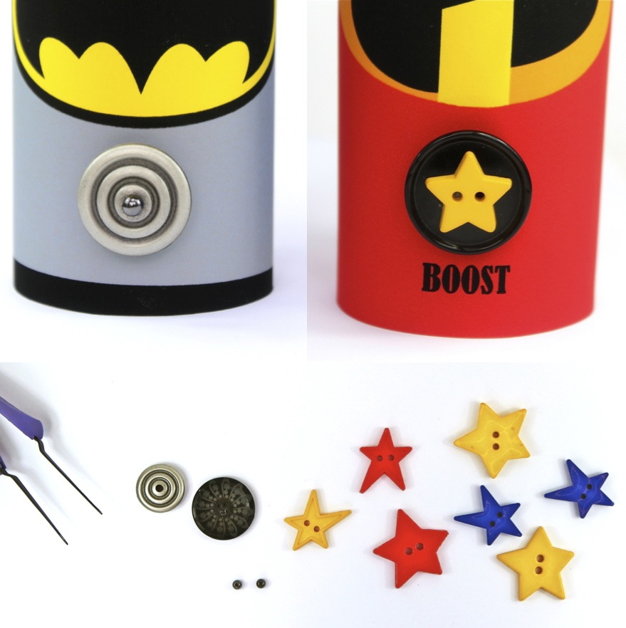 buttons for superhero cuffs