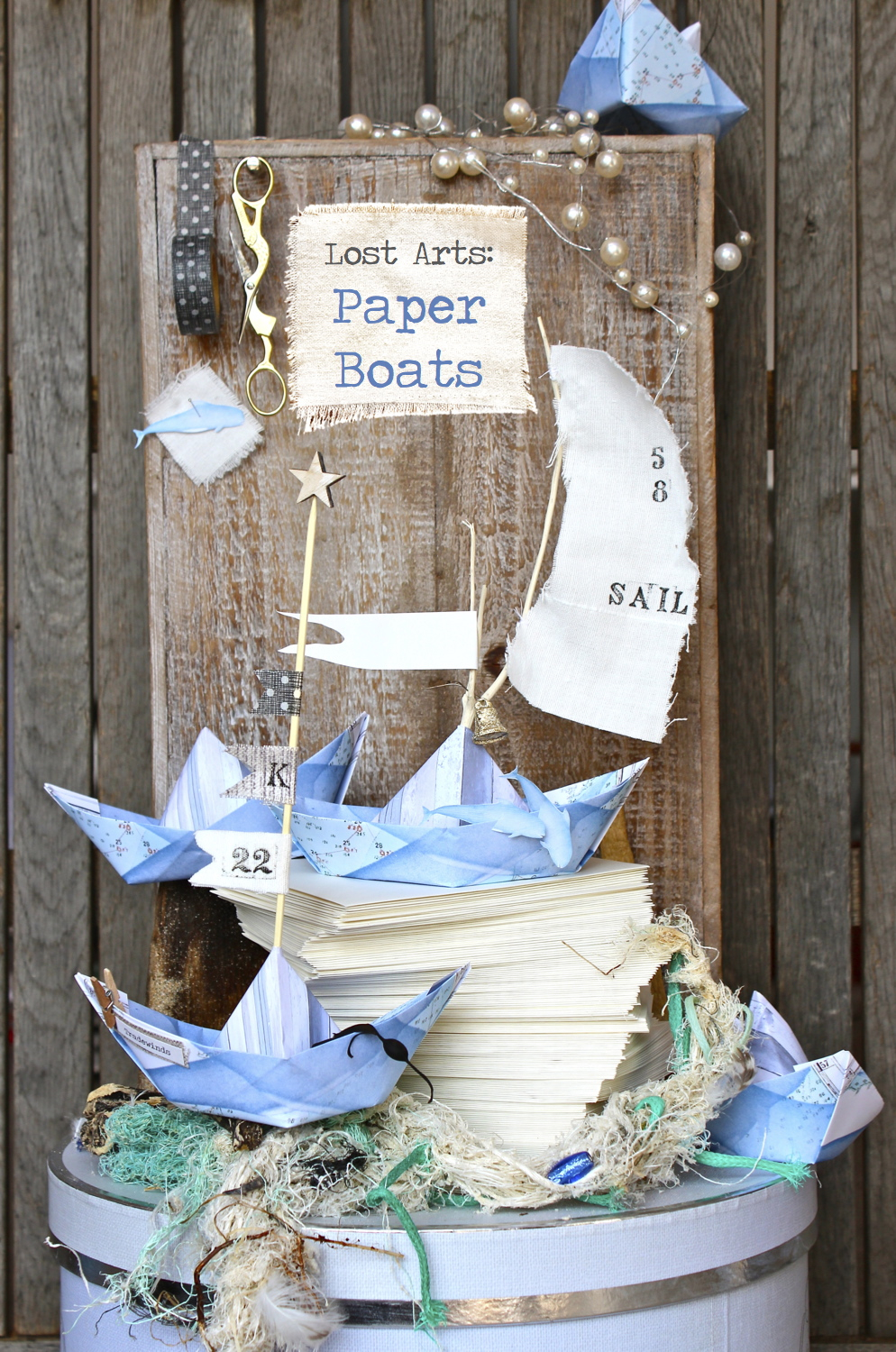 tutorial on how to make paper boats