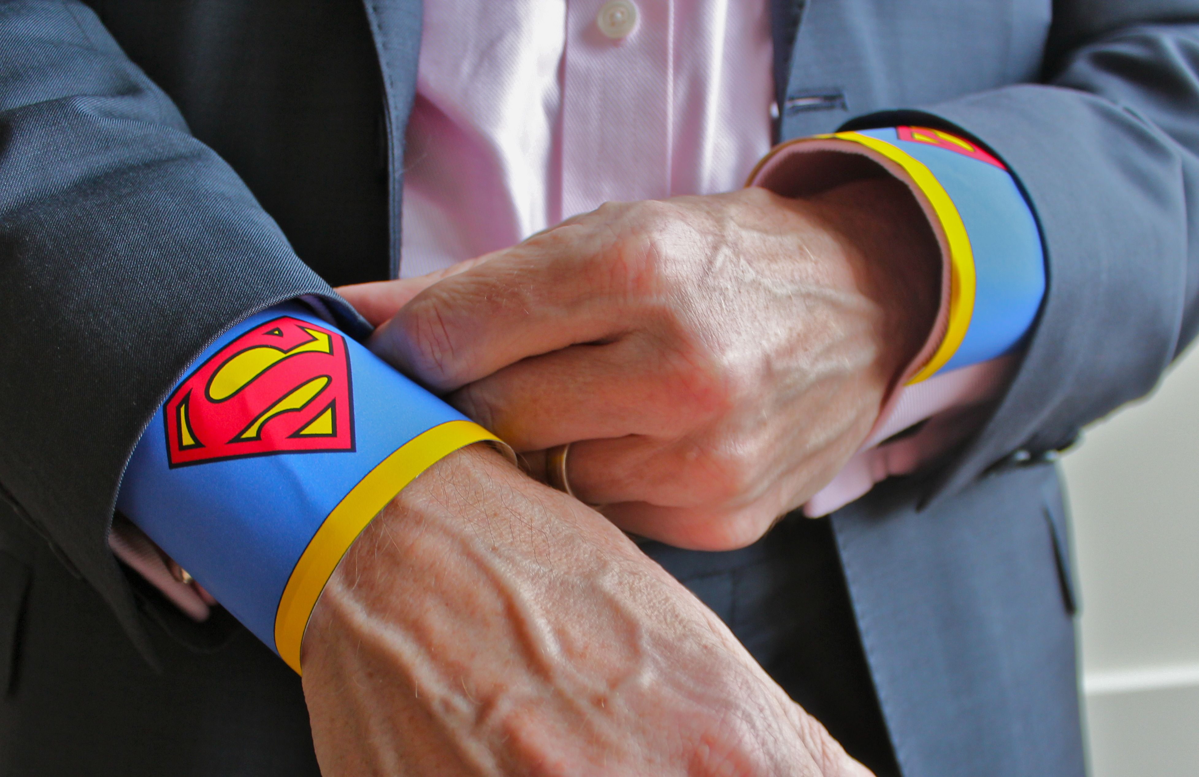 superman cuffs with suit