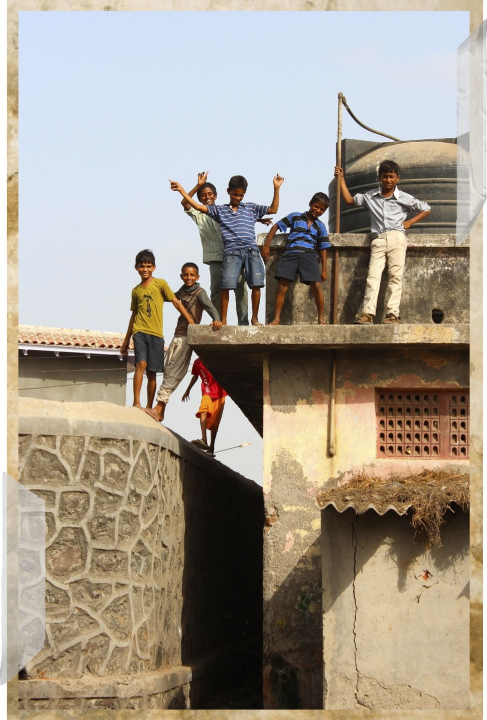 boys on roof