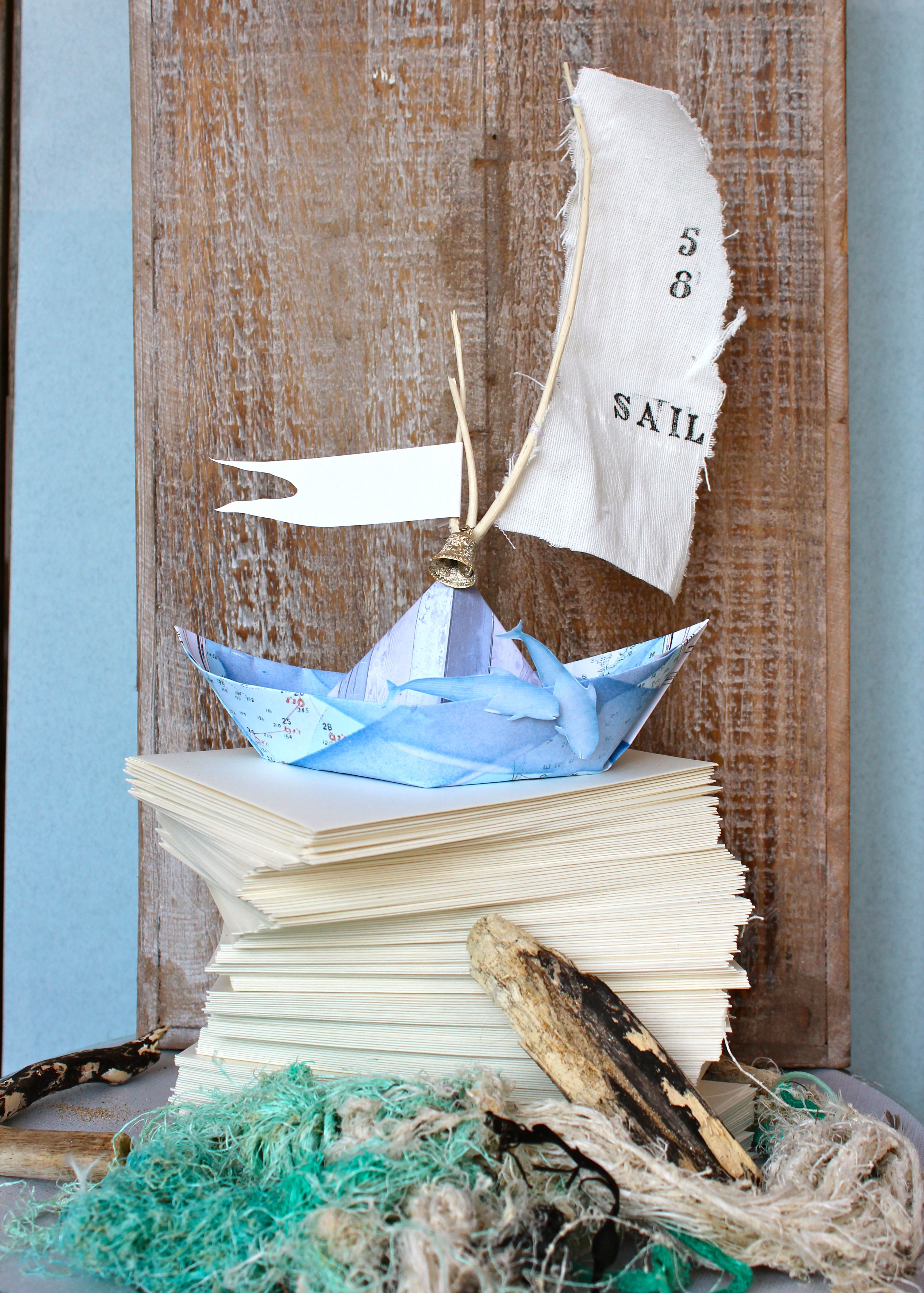 paper boat with sail