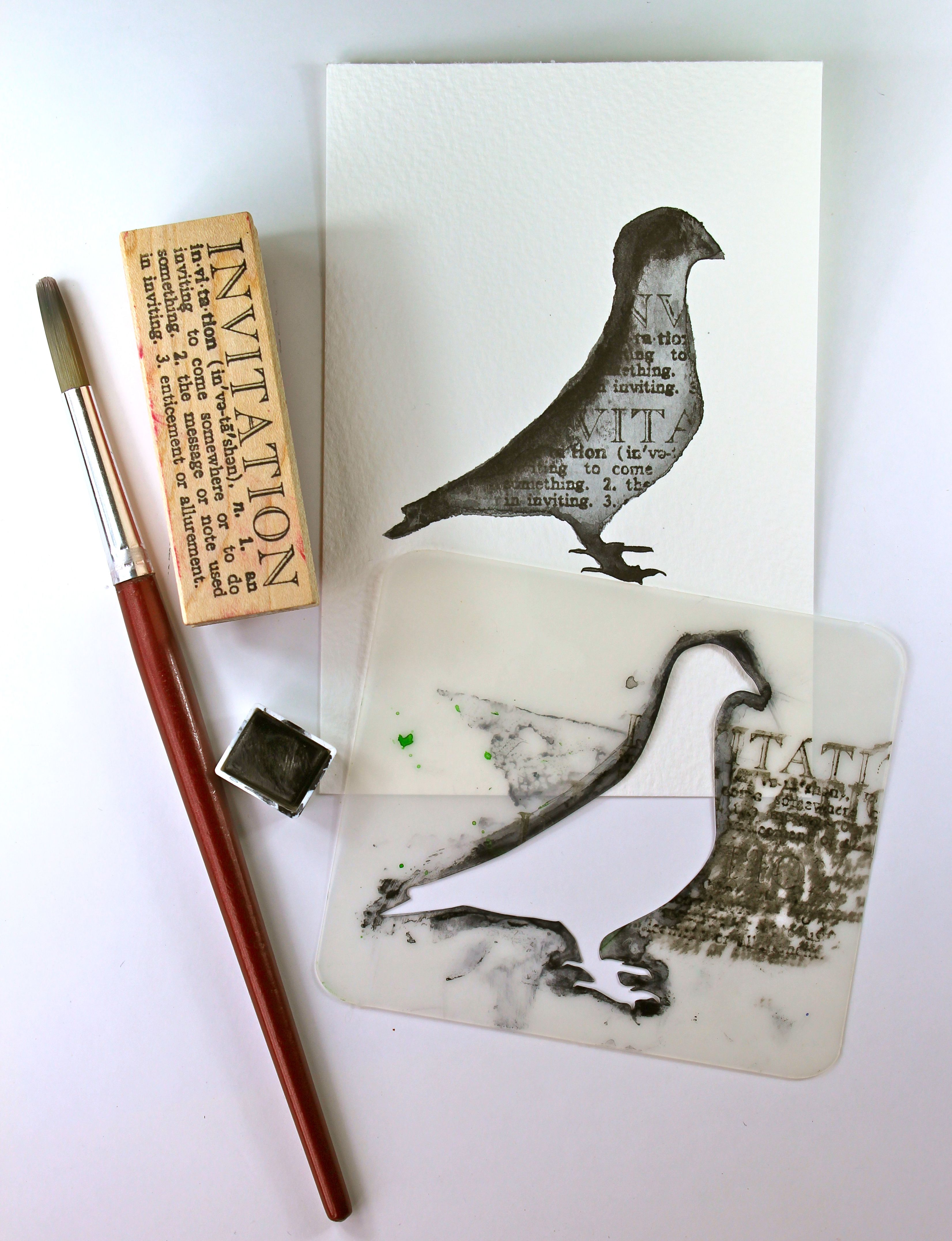 pigeon stencil how to