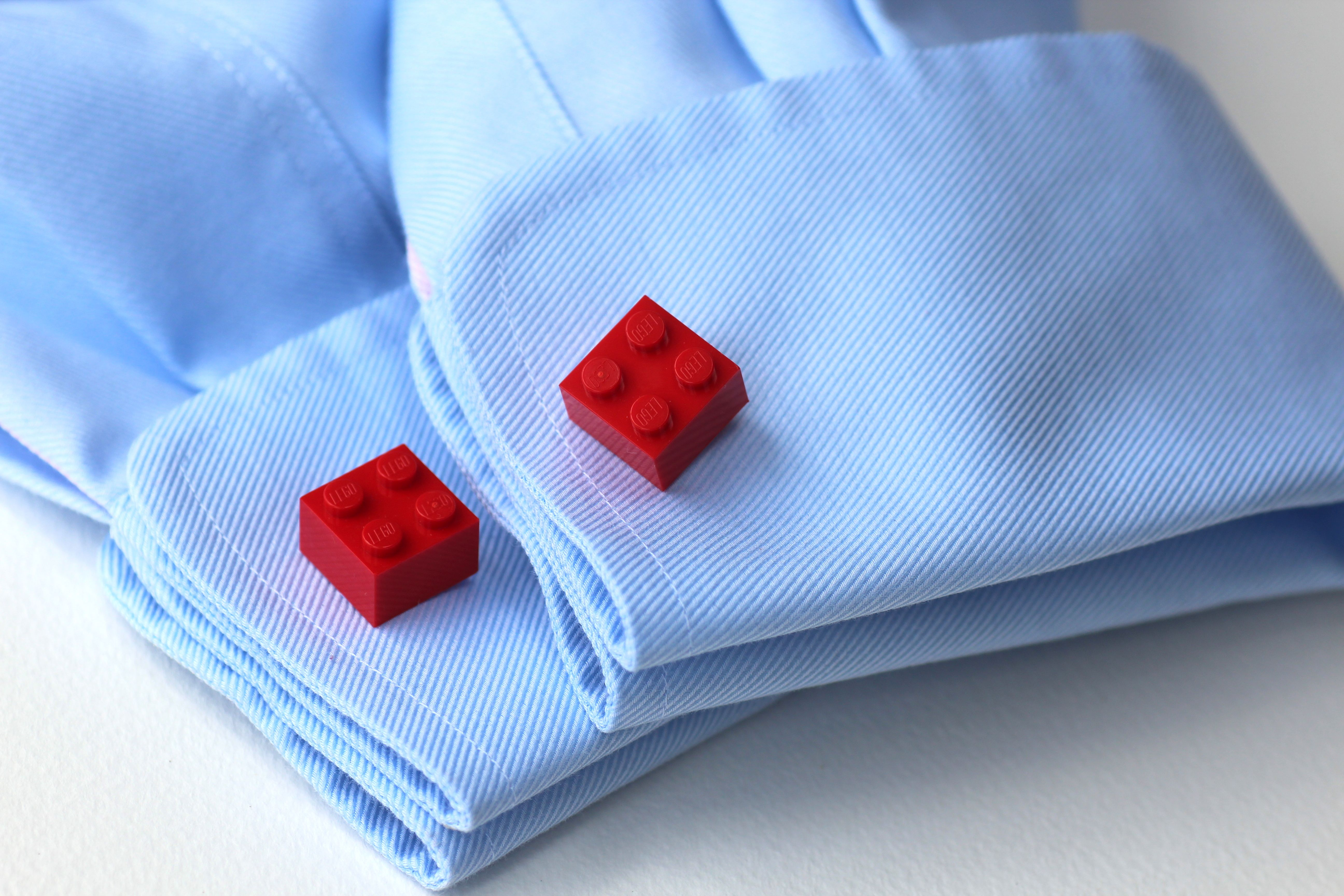 lego cufflinks close up