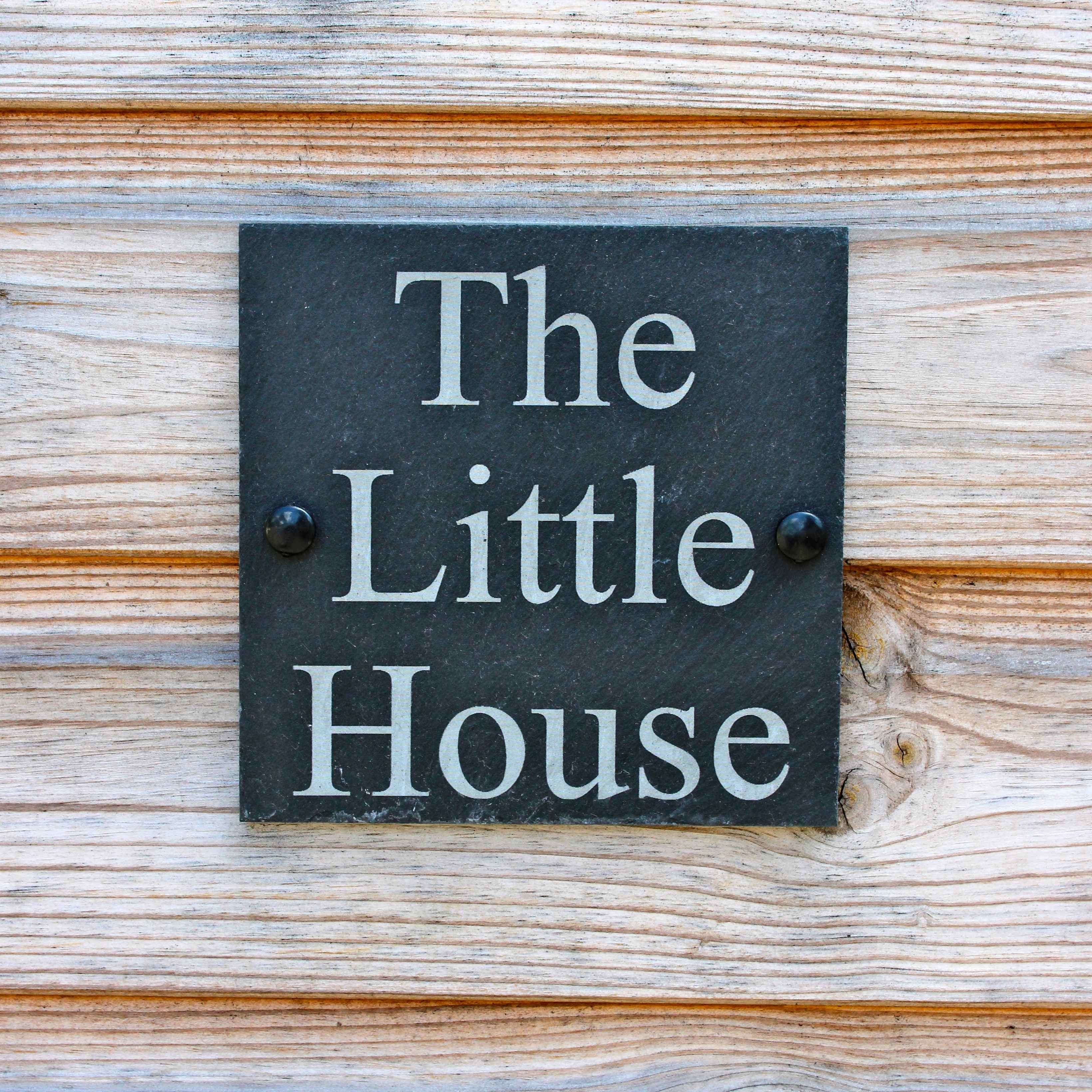 the little house sign