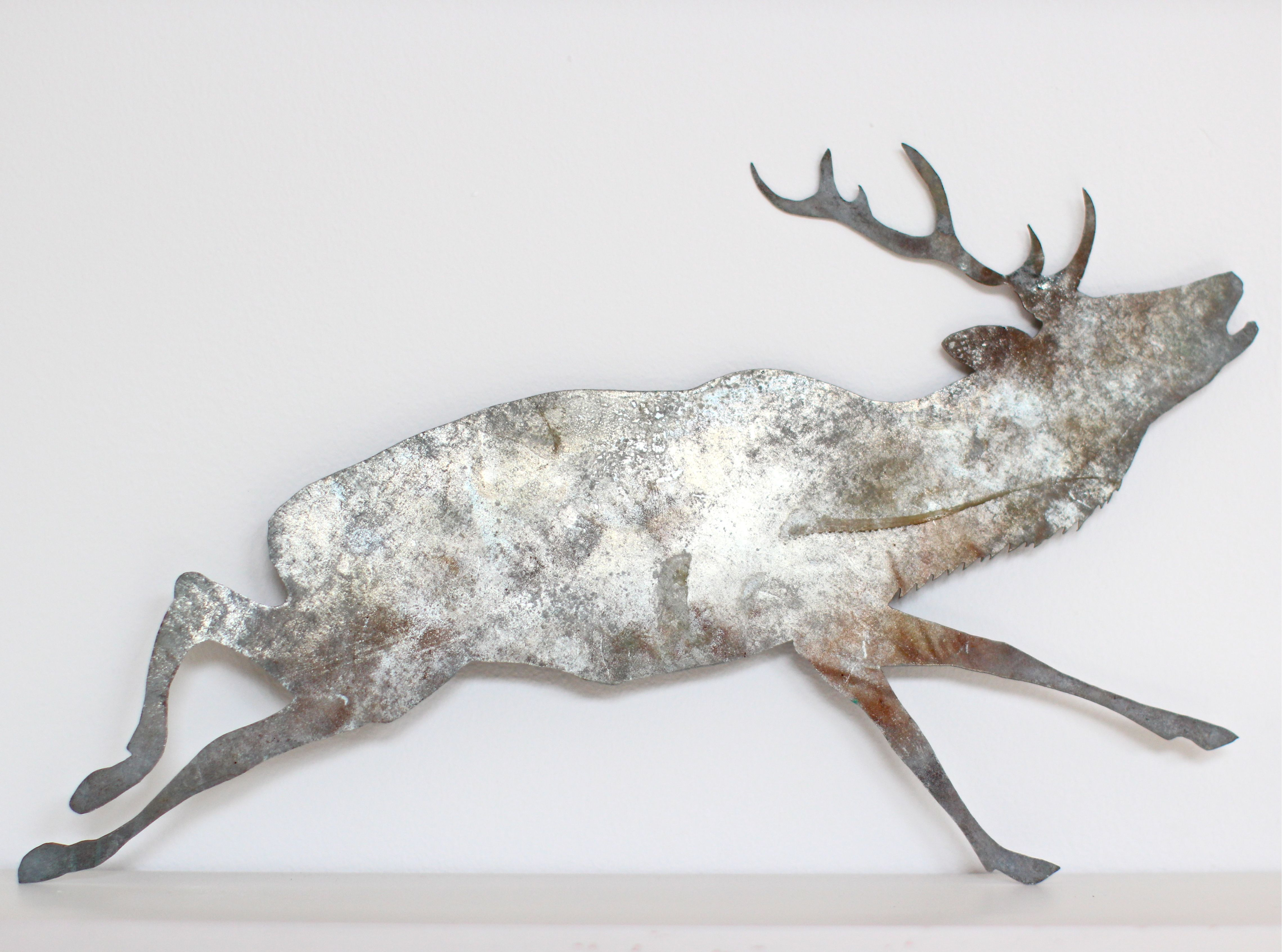 vintage tin stag form