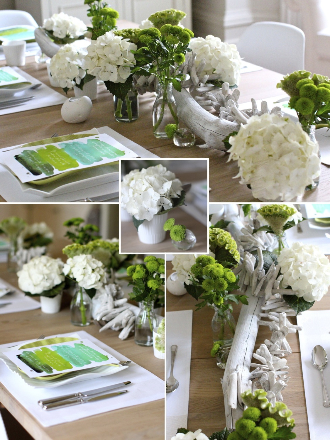 Paint palette tablescape