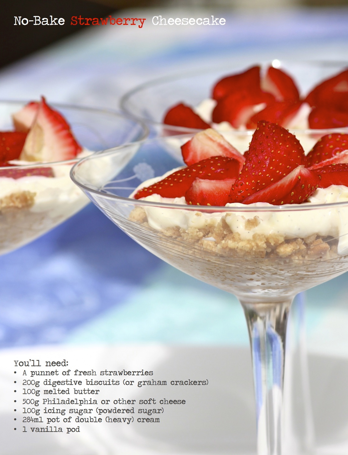Strawberry cheesecake recipe from KatesCreativeSpace