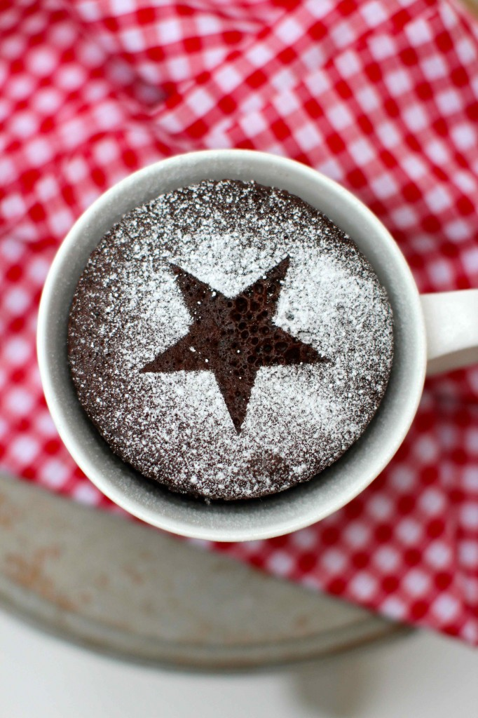chcolate cup cake with star motif