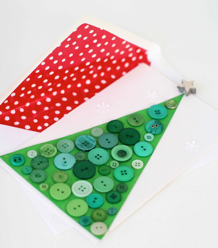 DIY button cards and lined envelopes