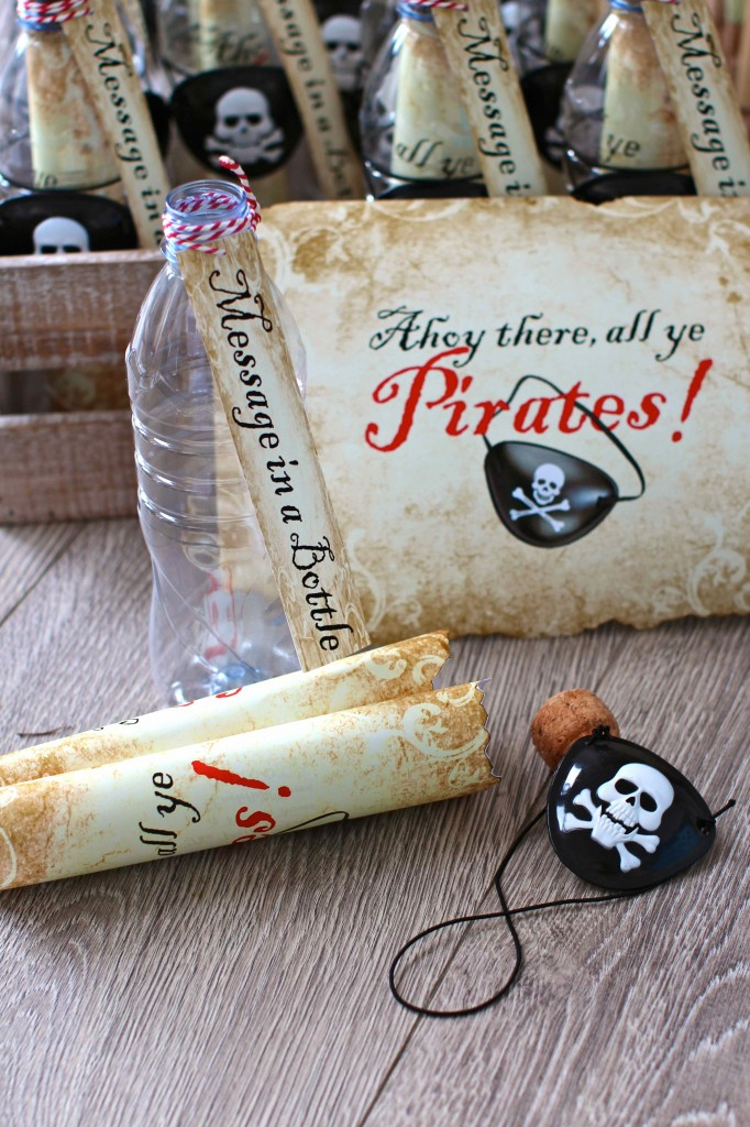 DIY pirate party invitations