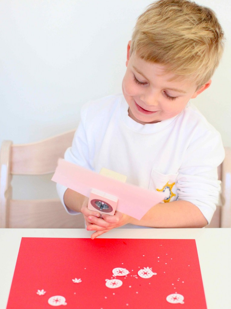 DIy snowflake christmas cards