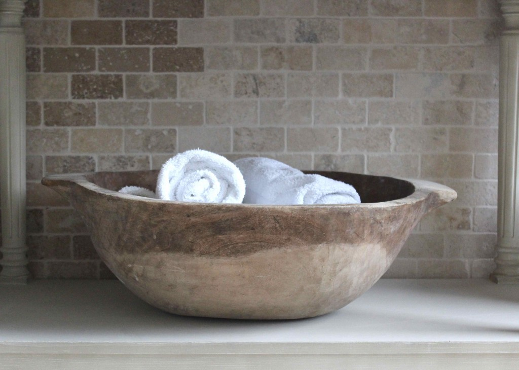 dough bowl bathroom storage