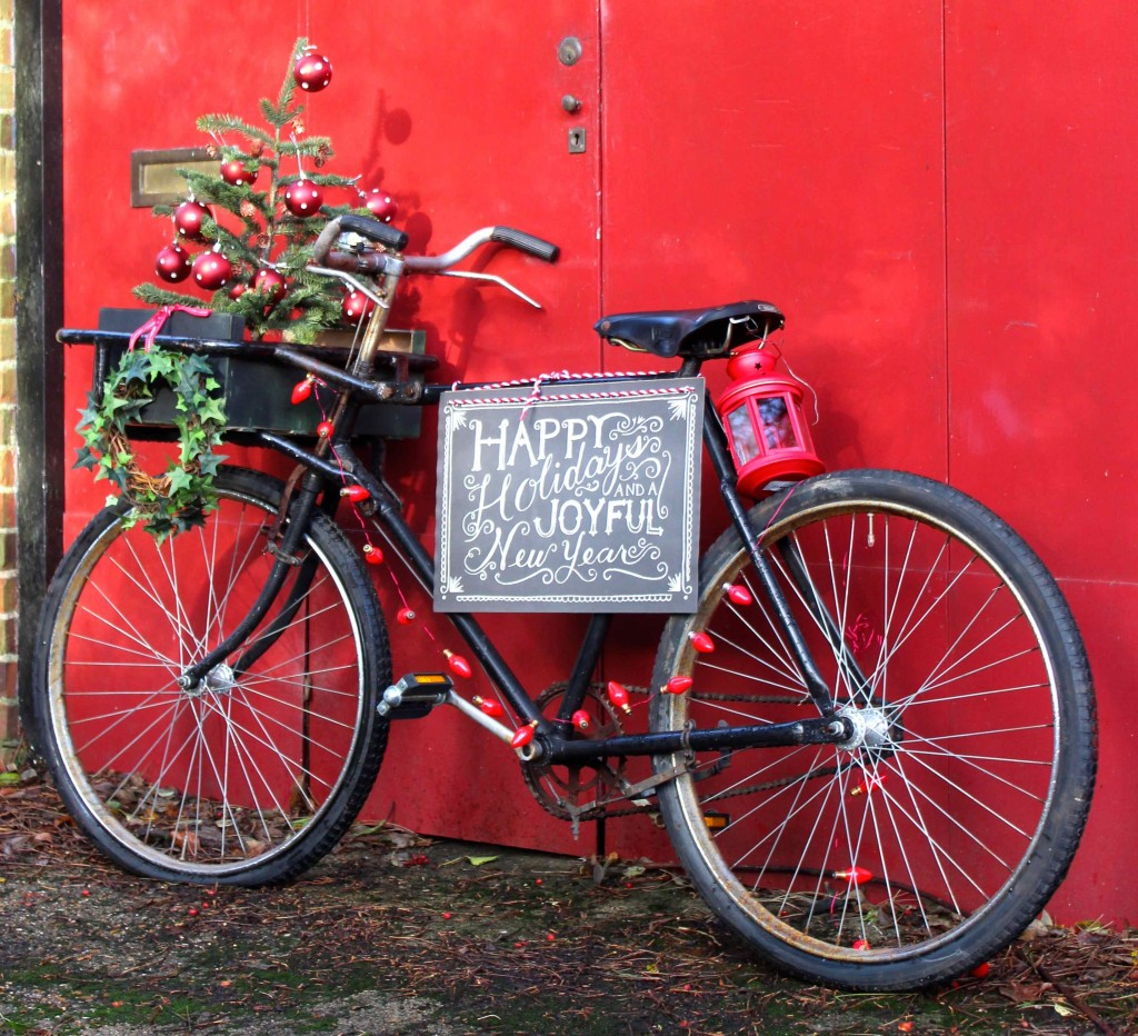 Festive delivery bike