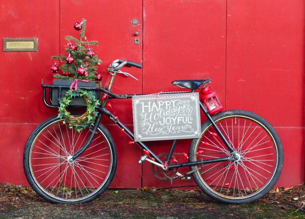 Holiday house Christmas bike