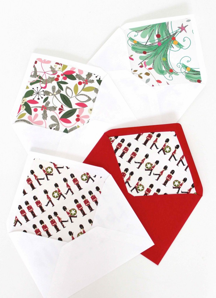 christmas envelope liners