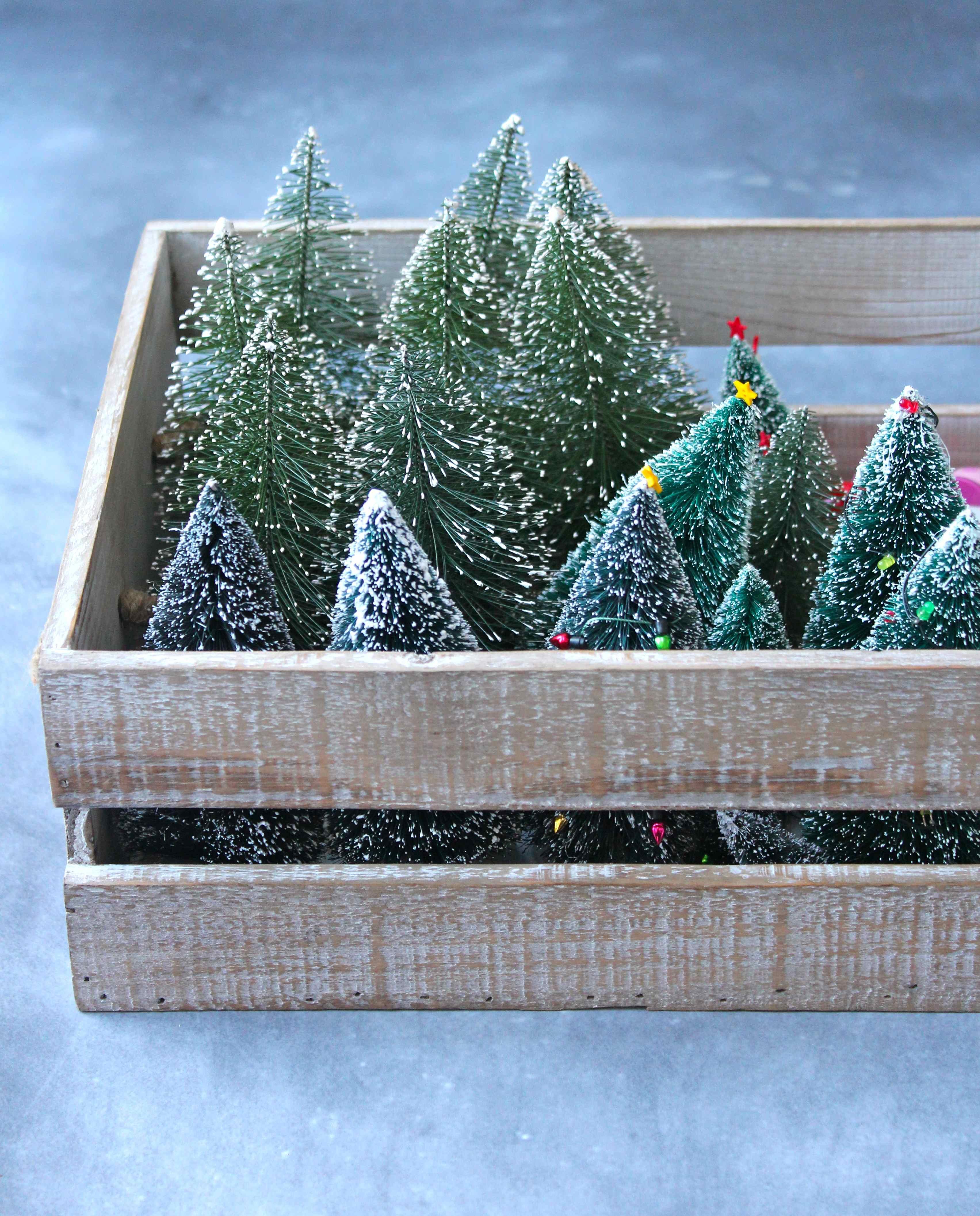 Bristle Christmas Tree Cake Decoration