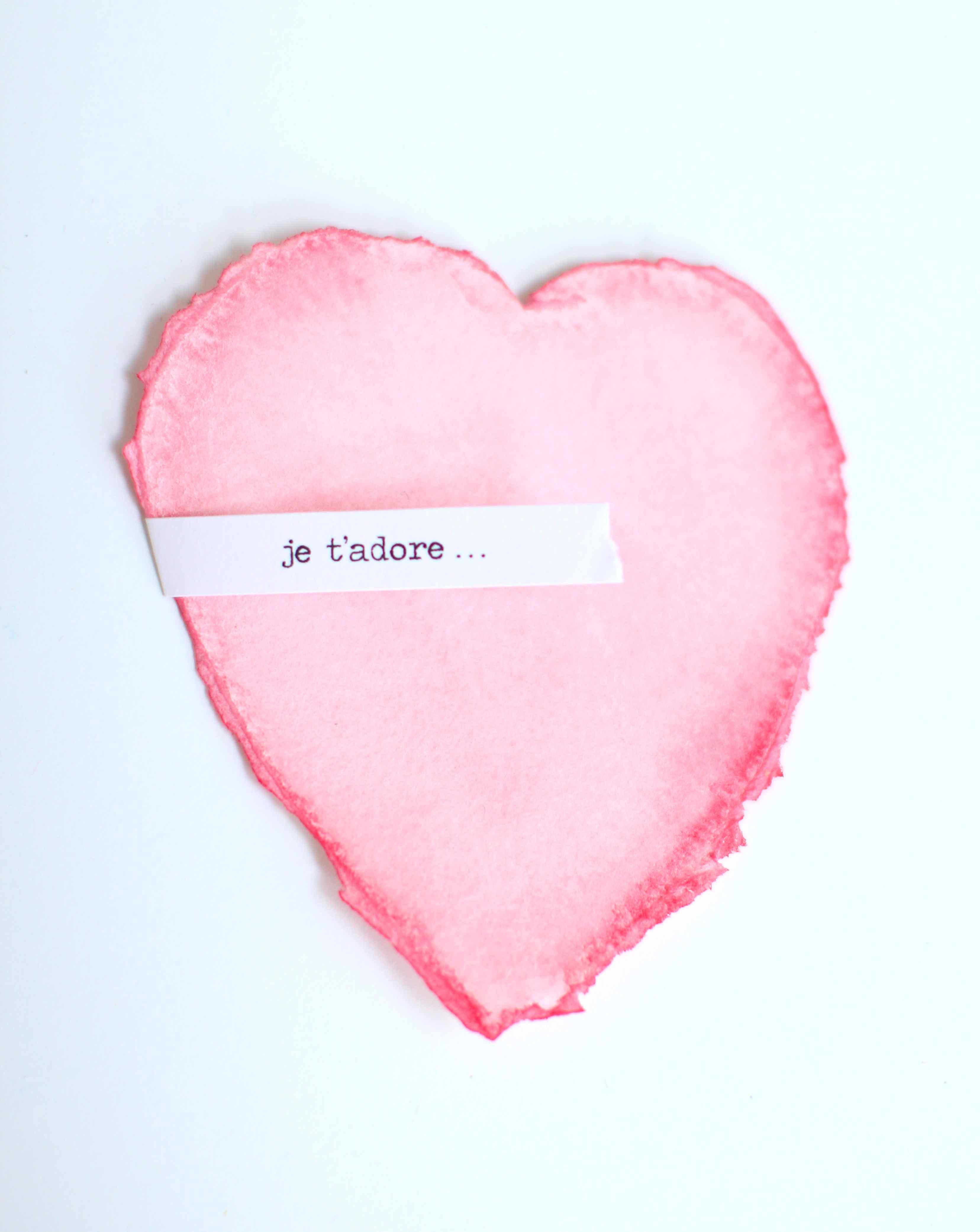 quick tricks painted paper hearts