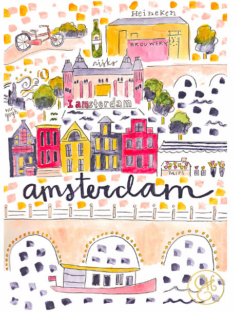 Amsterdam map by Evelyn Henson