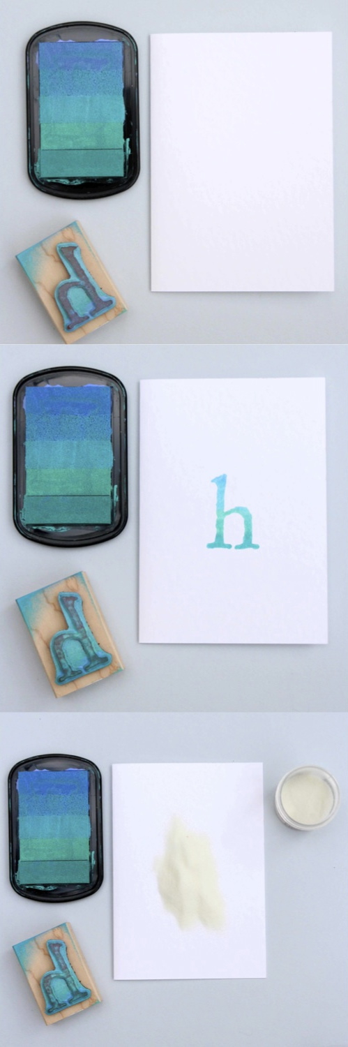 DIY Embossed Monogram Cards Step by Step