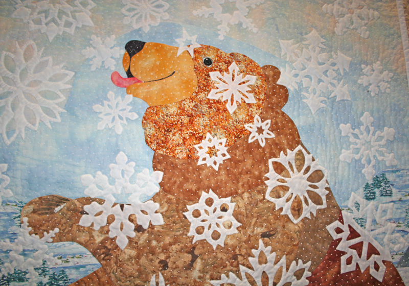 Detail from Anne Francis Bear Quilt