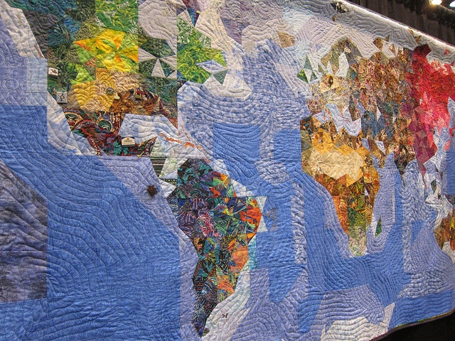 Map Quilt by Diane Lovitt