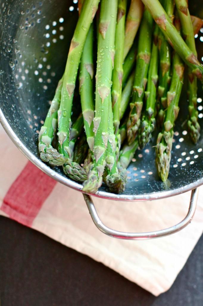 Rinsed asparagus