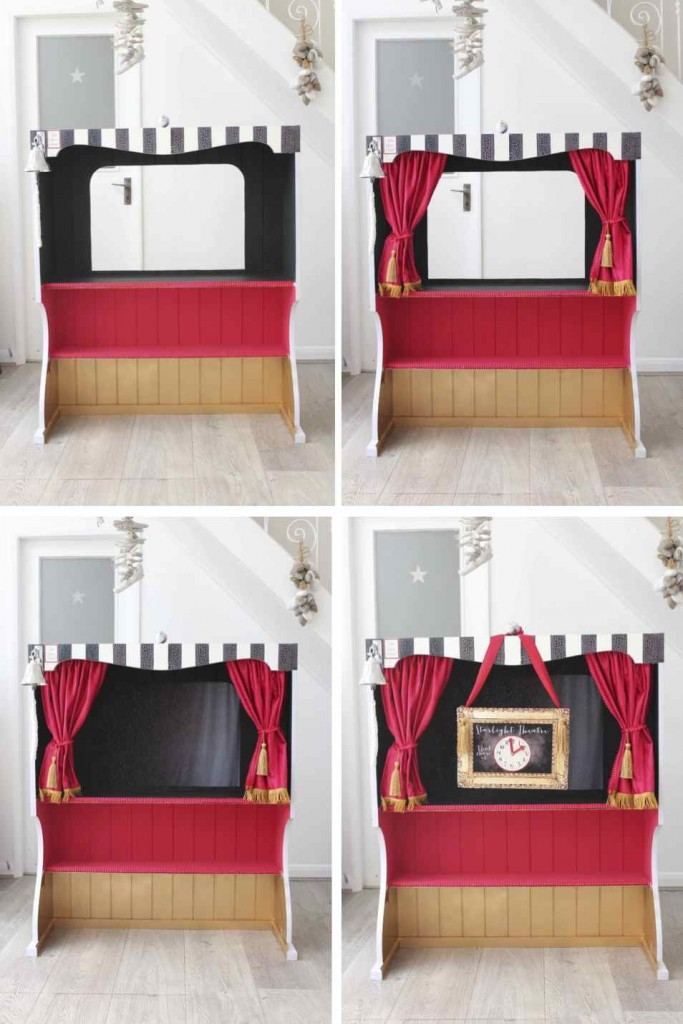 DIY bookcase into a Puppet Theatre