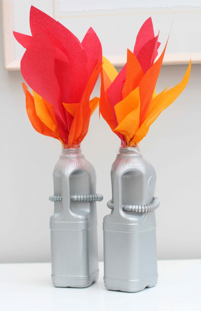 DIy Milk Bottle Rockets