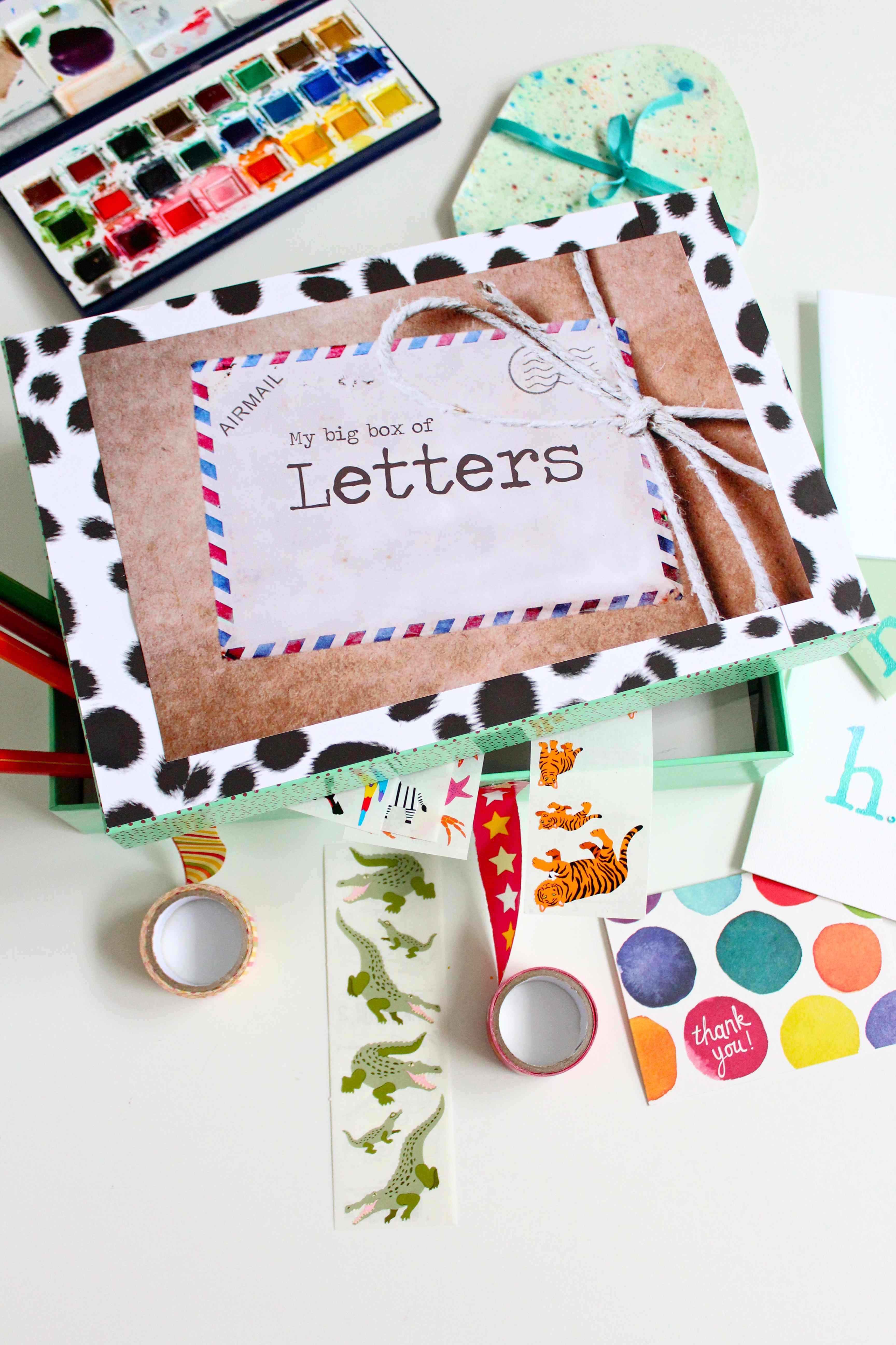creative letters the letter box preserving the magic of snail mail 21235 | Stationery box for kids