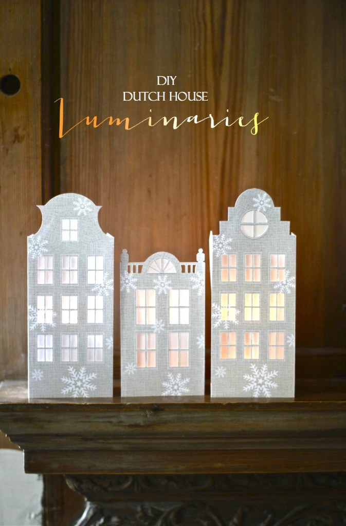 DIY Dutch House Luminaries