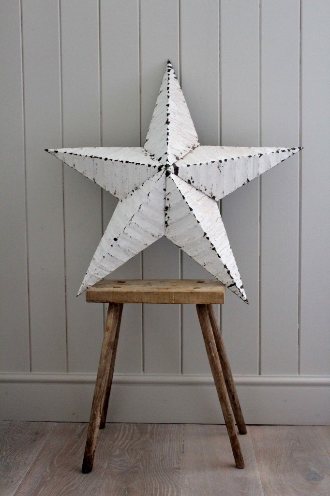 Barn star on milking stool