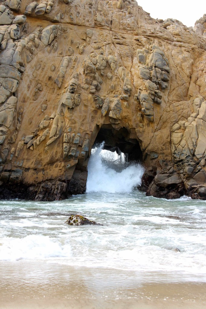 Witnessing the power of the ocean at Pfeiffer Beach