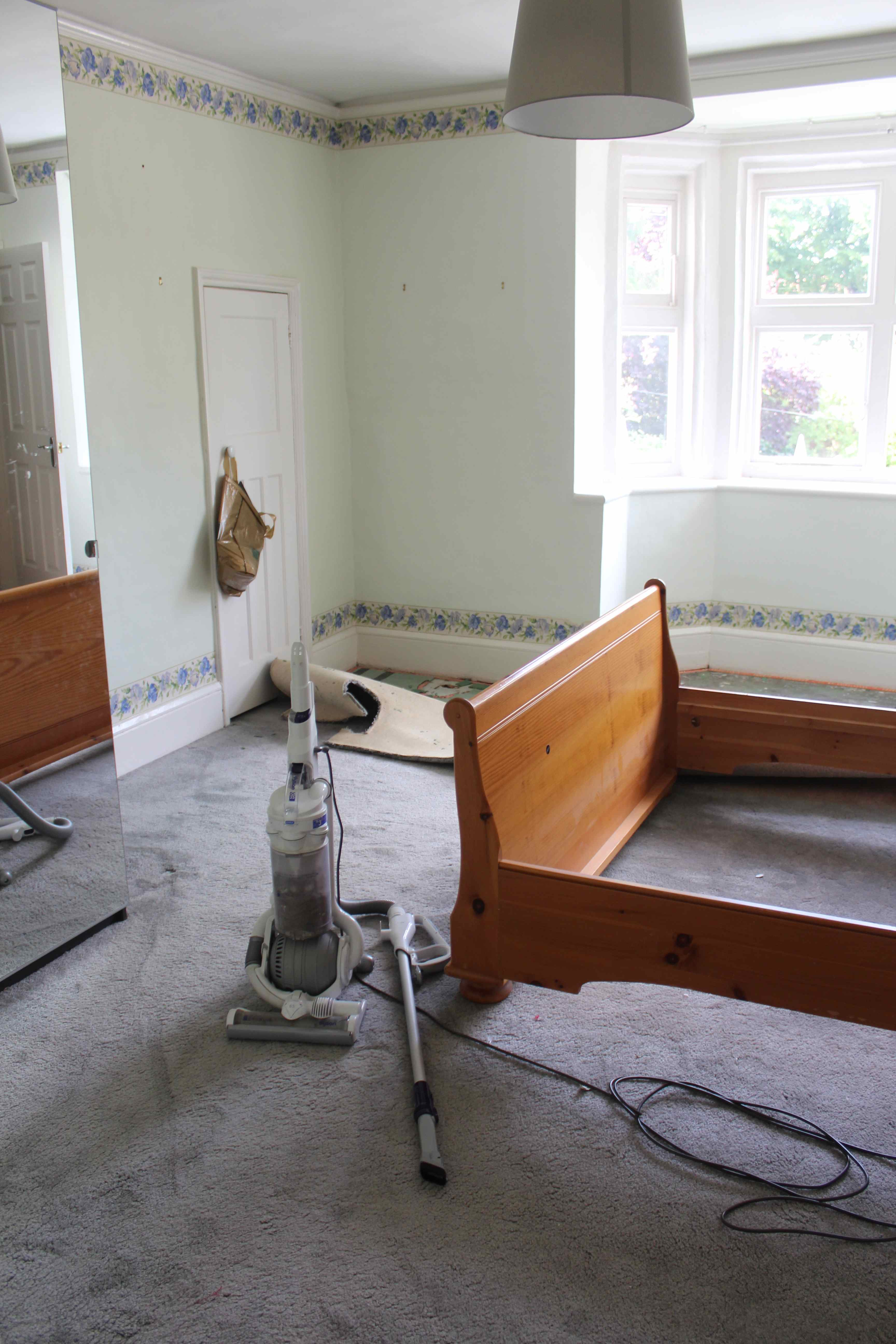 Tired Decor, Floral Borders, Exposed Pipework And The Oldest Piece Of  Furniture I Own U2013 A Bed From My Student Days. It Also Became A Dumping  Ground For The ...