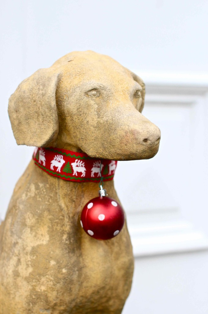 Dogs bearing baubles