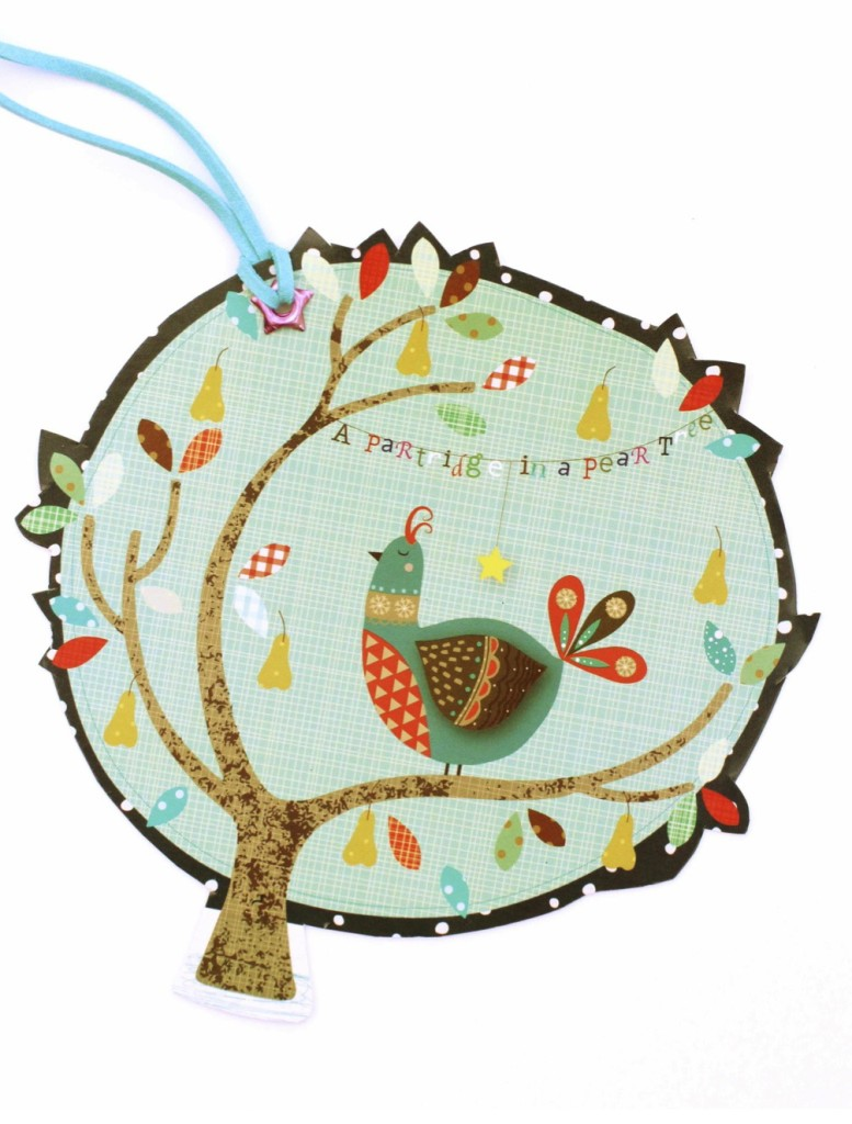 Partridge gift tag