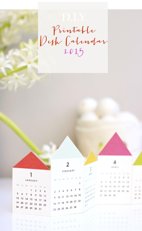 Diy Desktop Calendar : Diy printable desk calendar