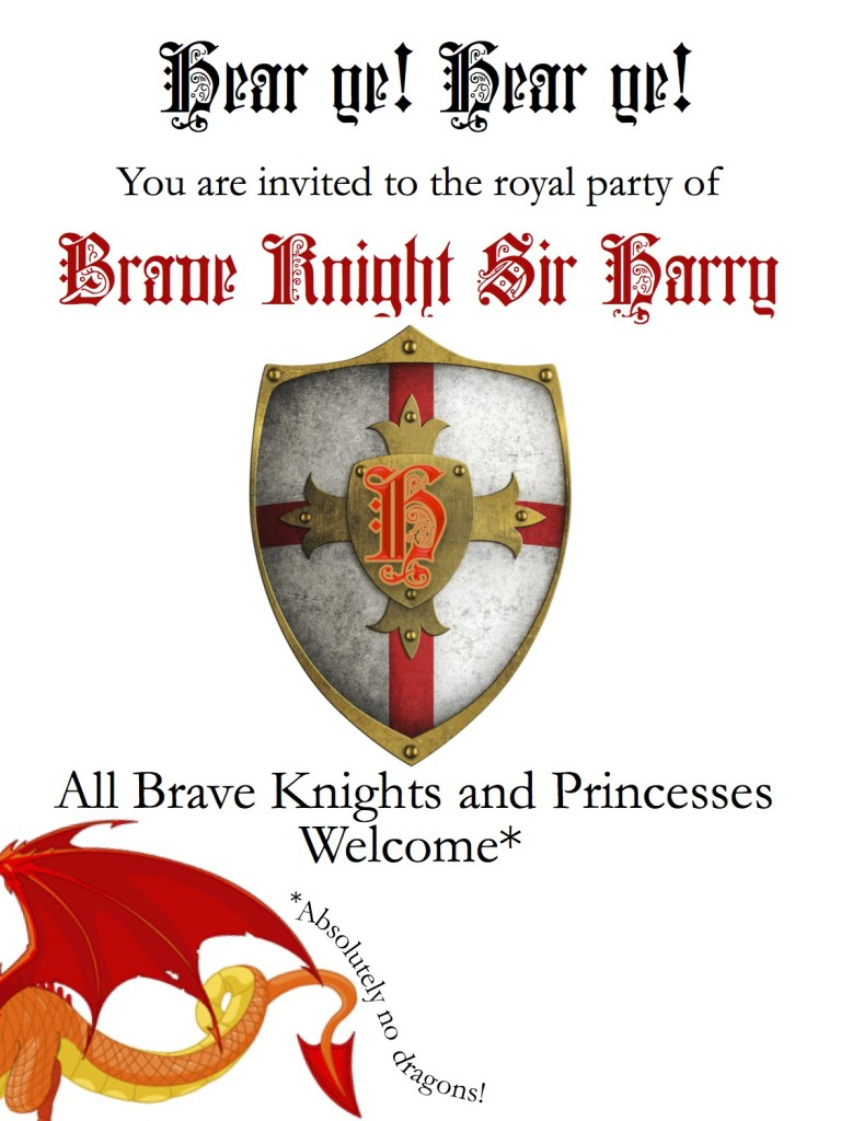 Knights Party Invitation