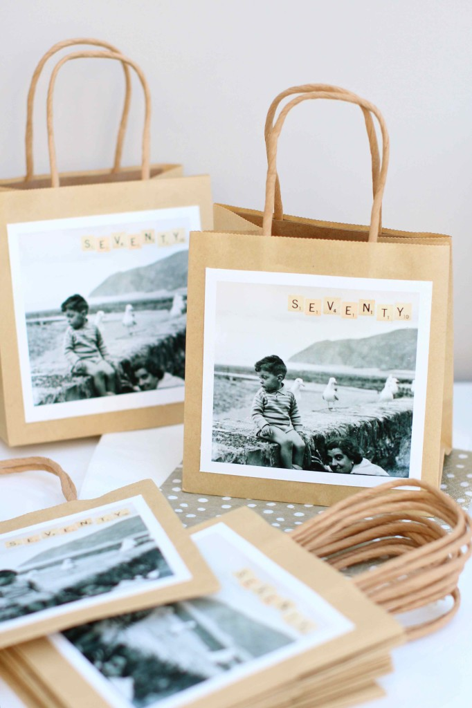 Personalised party gift bags