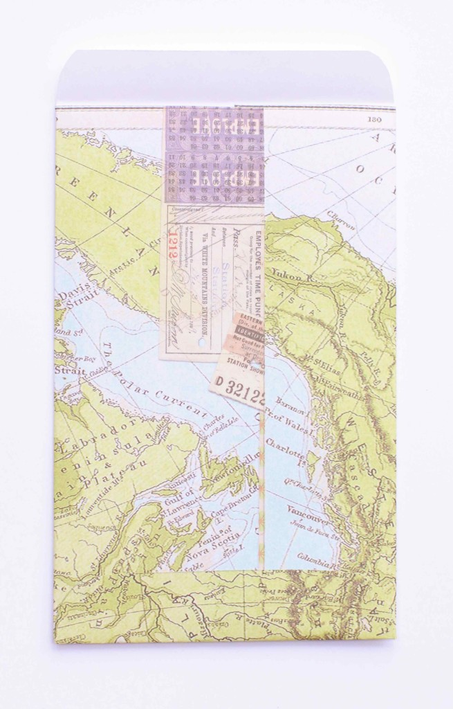 Map envelope back