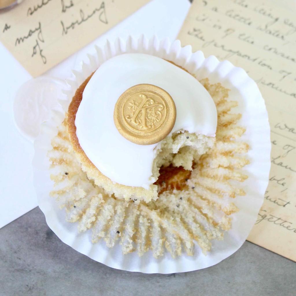 Monogram cupcake