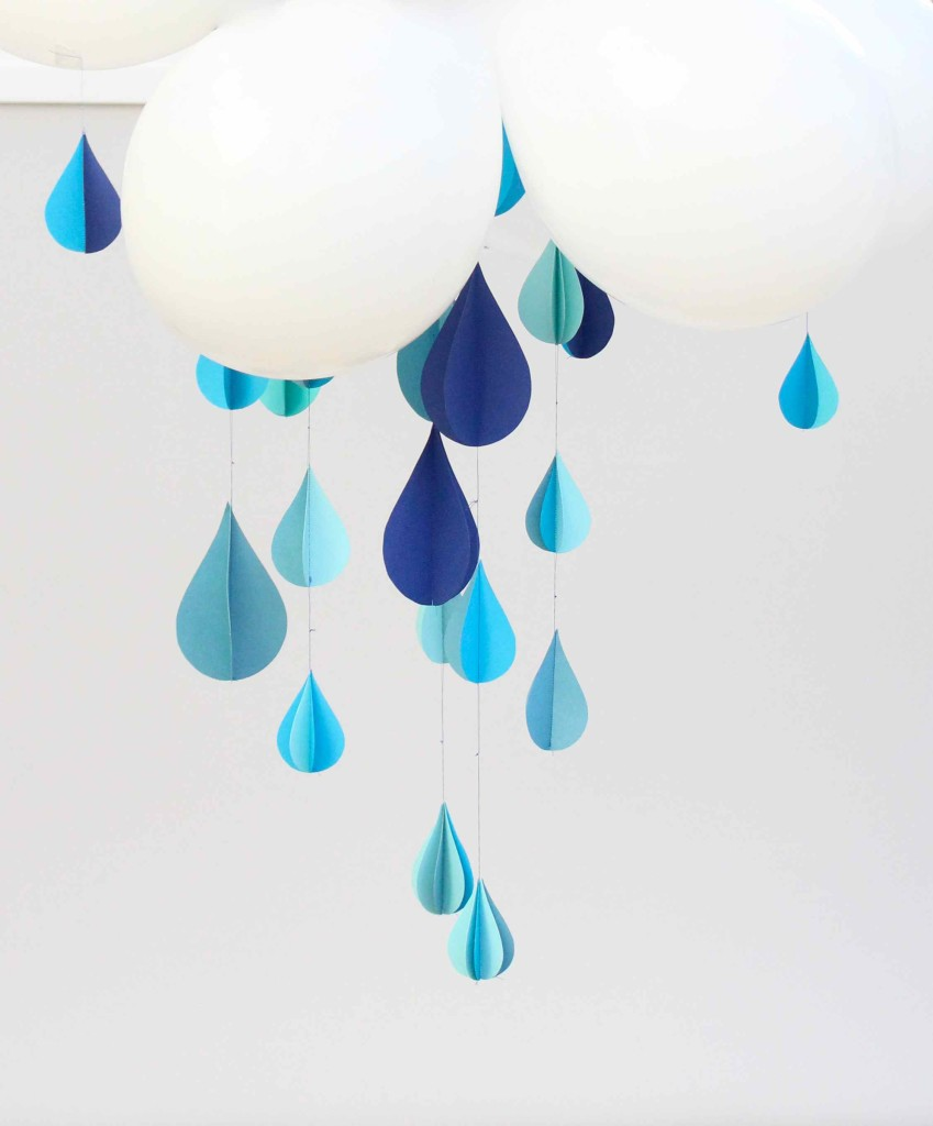 Raindrops and balloon clouds